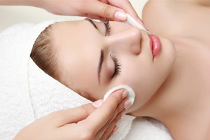 Essential facial with make up removal